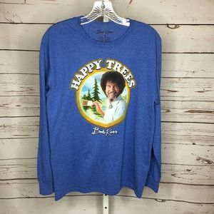 ❄️Bob Ross Mens Long Sleeve Shirt Size M New